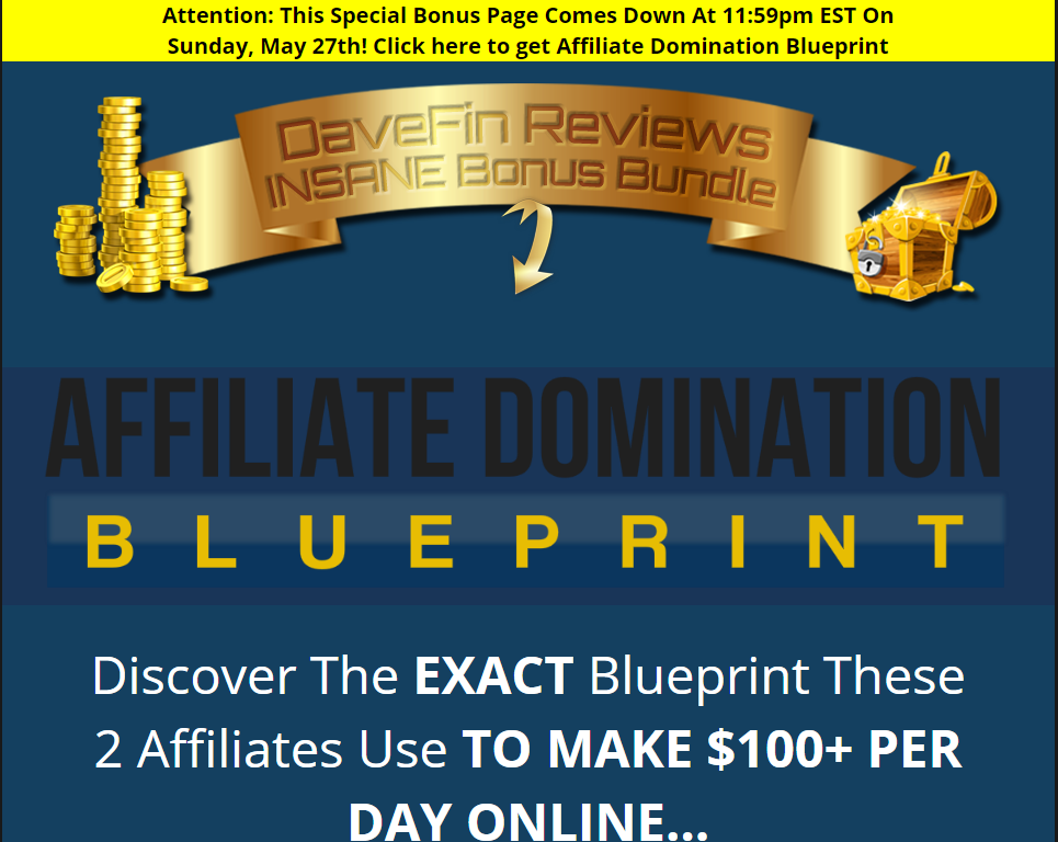 affiliate domination Blueprint bonus