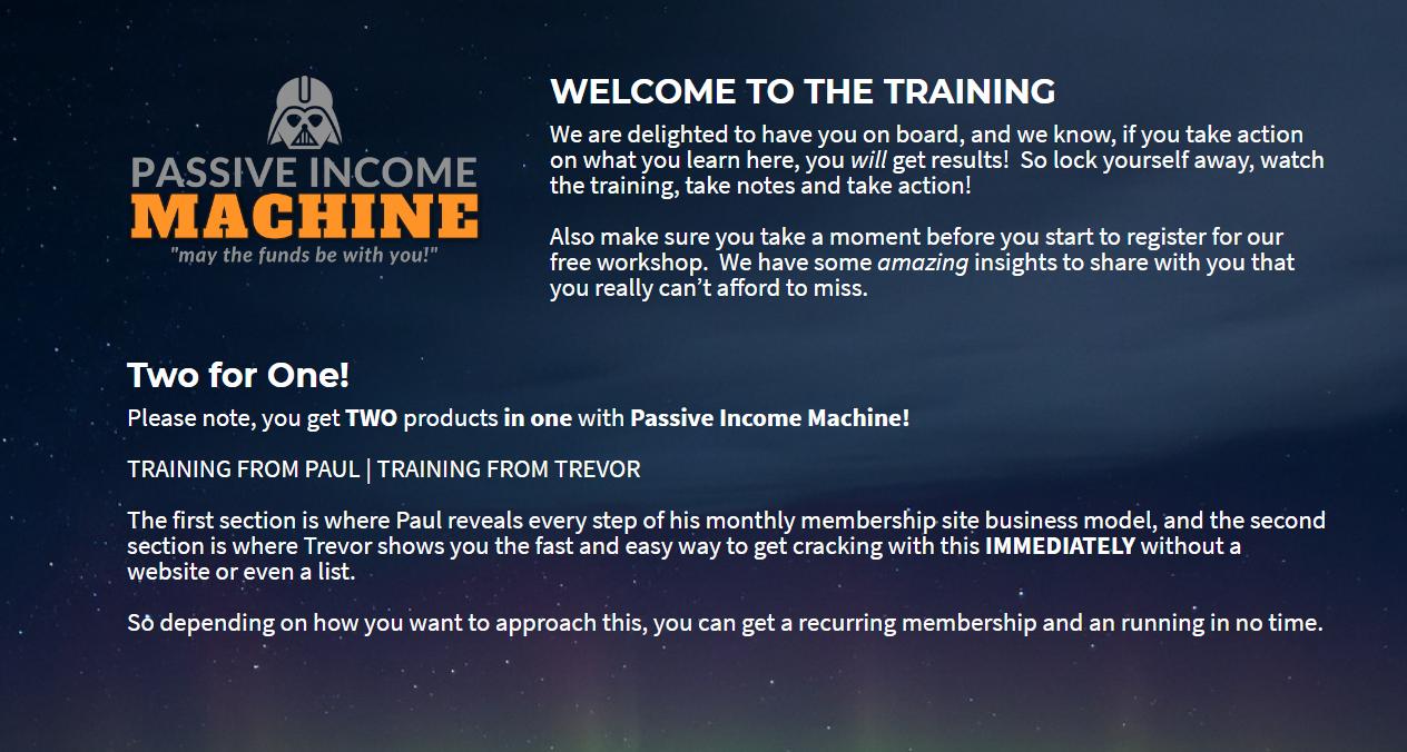 Passive Income Machine Review