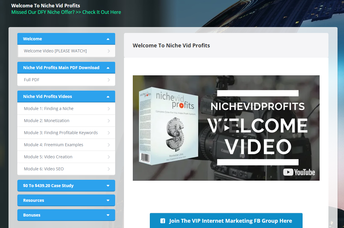 Niche Vid Profits Members