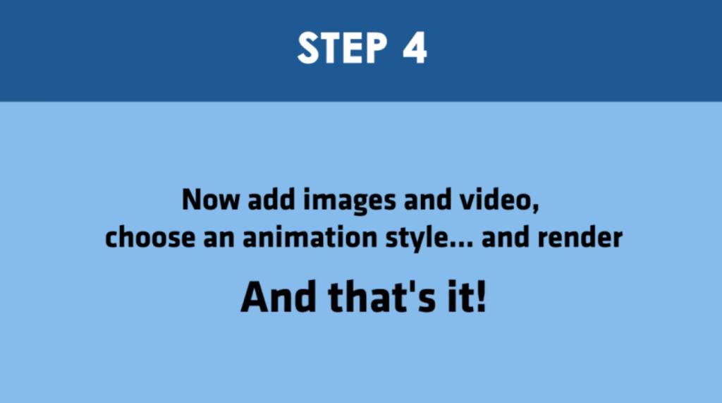 Step 4 - AI Video Ceator